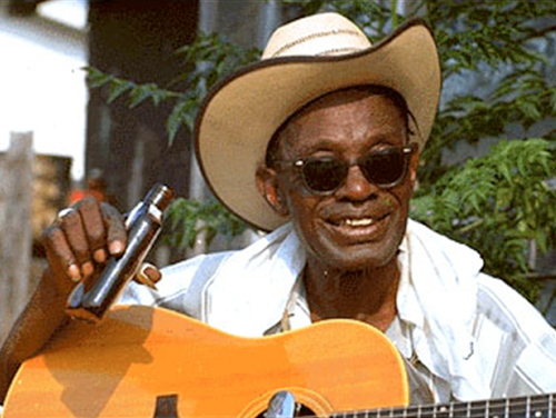 fingerpicking blues style of lightnin' hopkins