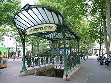 paris metro station