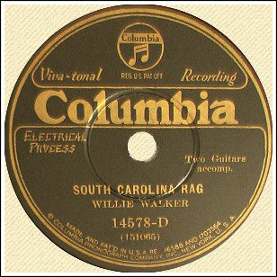 South Carolina Rag Record Label - Columbia