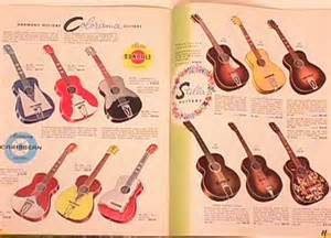 Sears Catalog With Stella Range Of Guitars and Prices